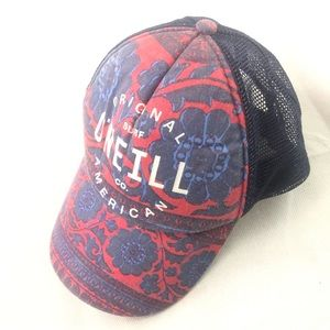 O'Neill hat cap red blue snap back